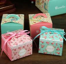 personalized favors floral print wedding favors boxes summer 2015 silk ribbon
