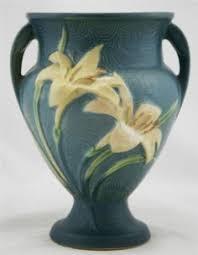 Roseville Vases Ebay Penchant For Pottery Roseville Pottery Zephyr Lily Blue Vase