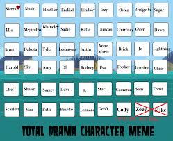 Memes Characters - total drama characters meme by sandshrew sts on deviantart