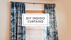 diy shibori indigo curtains youtube