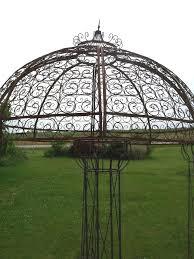 Wrought Iron Pergola by Astounding Wrought Iron Gazebo Arbor Garden Landscape