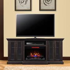 ana white entertainment center fireplace diy projects electric