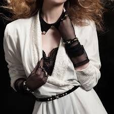 tulle glove handcuffs fraulein kink touch of modern tulle glove handcuffs