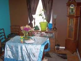 turquoise blue and brown paint color scheme