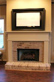 painted fireplace ideas pinterest renovate paint wall brick mantel