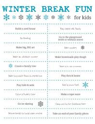 things to do winter for free printable
