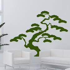 baum bonsai für wohnzimmer u0026 wohnbereich wandtattoo japan