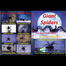 giant spiders dvd digital halloween decorations video projection