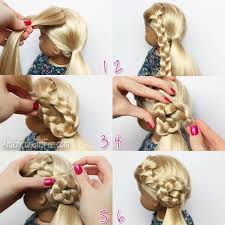 simple hairstyles with one elastic 25 cute beautiful american girl doll hairstyles