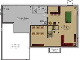 ranch house floor plans with basement finished basement floor plans inspirational ranch house floor plans