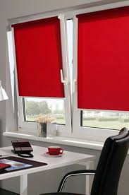 red window roller blind 16 width sizes 110cm wide by 175cm long