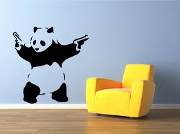wall art designs vinyl wall art banksy panda vinyl wall art