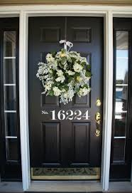 Unique Front Doors Lovely Wreath For Christmas Door Decors Attach At Single Black