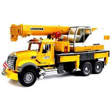 bruder toys mack granite liebherr crane truck 02818 xmas wish