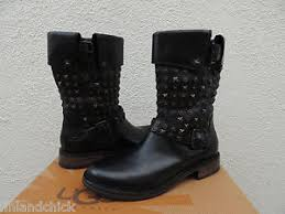 s ugg black leather ugg black leather conor studs moto buckle boots us 6 eur 37