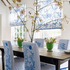 Chinoiserie Chic Blue And White Dining Room DIY - Blue and white dining room