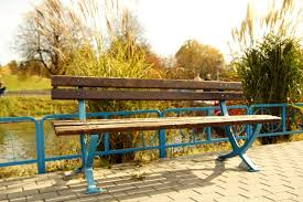 Landscape Timber Bench Free Picture Wooden Bench Empty Bench Park Sidewalk
