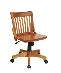 White Desk Chairs With Wheels Design Ideas Office Deluxe Armless Wood Bankers Desk Chair