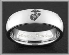marine wedding rings usmc 18 kt yellow gold plated tungsten marine s wedding ring