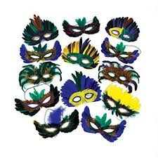 mardigras masks 12 feather mardi gras masks costume party masquerade