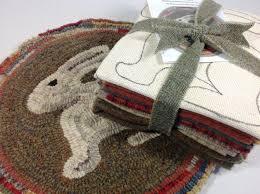 Hand Hooked Rug Kits Rug Hooking Kit Woodland Bunny Chair Pad Or Table Mat J636
