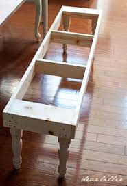 diy dining table bench if another bench needs to be made this looks the easiest dear