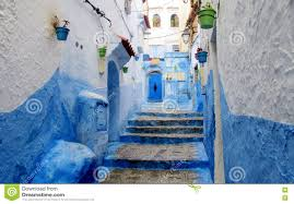 Morocco Blue City by Chefchaouen Morocco Blue And White City Stock Photo Image