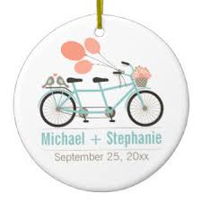 tandem bicycle ornaments keepsake ornaments zazzle
