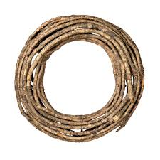 16 inch x 3 5 inch thick twig wreath 2 pack