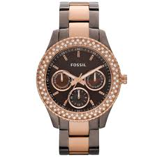 rose tone stainless steel bracelet images Lyst fossil womens stella chocolate and rose gold tone stainless jpeg