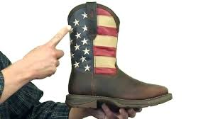 rebel by durango steel toe american flag western boot style