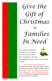 adopt a family tree st luke s episcopal church