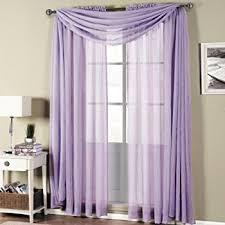 Purple Sheer Curtains 2 Solid Lavender Purple Sheer Window Curtains
