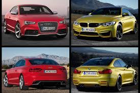 bmw vs audi race bmw m4 coupe vs audi rs5 comparison test
