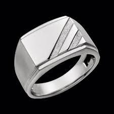 signet ring men men s white gold signet ring