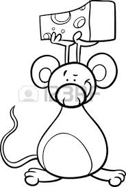 black white cartoon illustration funny rat mouse animal