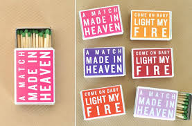 wedding matches wedding favors themed matches