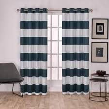 White And Navy Striped Curtains Stripe Curtains Drapes For Less Overstock