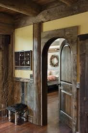 Rustic Bedroom Doors - blue ridge georgia log home cabin by precisioncraft