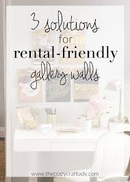 how to do a gallery wall three solutions for rental friendly gallery walls the crazy craft lady