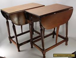 drop leaf end table set of 2 mahogany pembroke drop leaf end side hall tables solid wood