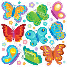 cartoon butterfly theme collection by clairev toon vectors eps