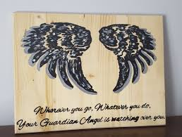 Home Decor Signs Sayings Guardian Angel Sign Angel Signs Sayings And Quotes Primitive