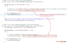 Map In Java How To Read A File Line By Line Using Java 8 Stream Files Lines