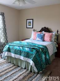 Colors For Sleep Small Space Guest Teal Bedroom Using Espresso Dresser Also White