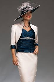 ian stuart knee length fitted shift dress with contrasting bolero