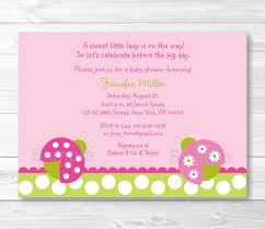 cute pink ladybug baby shower invitation ladybug baby shower