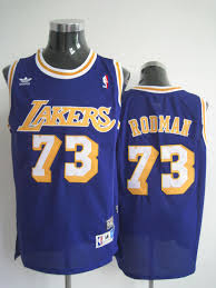 cheap adidas nba los angeles lakers 73 dennis rodman swingman