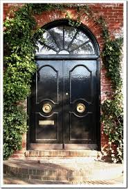 Black Exterior Gloss Paint - glossy black front door paint the window trim above it too love