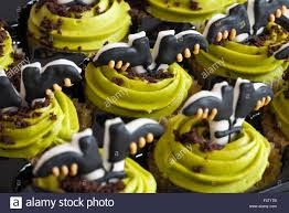 m u0026s toffee apple cupcakes for halloween stock photo royalty free